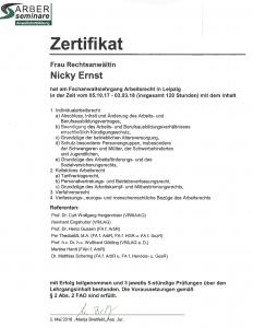 Fachanwalt Nicky Ernst