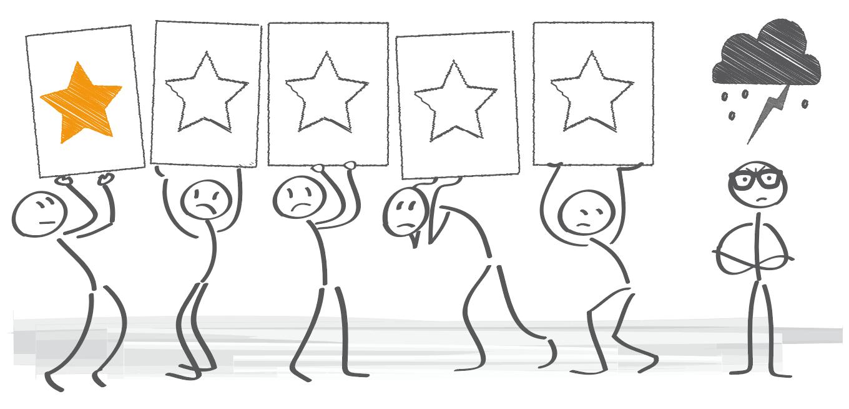 1-Stern-Bewertung